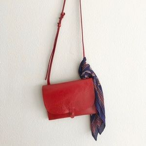 Lucky Brand The Point Crossbody in Poppy Red